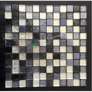 Glass And Carving Resin Mosaic Tile - Grey - NZ DEPOT