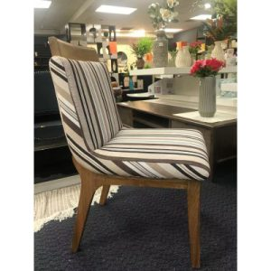Dinning Chair With Cotton Seat *SOLID OAK LEG - Clearance Sale - NZ DEPOT