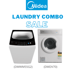 Midea Laundry Combo  - 5.5KG Top Load Washing Machine + 7kg Vented Dryer - NZDEPOT