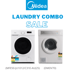 Midea Laundry Combo  - 5KG Front Load Washing Machine + 7kg Vented Dryer - NZDEPOT